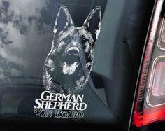 V04 Dobermann on Board Doberman Pinscher K9 Sign Decal Car Window Sticker