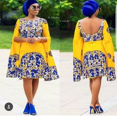 Yellow African print midi dress,african clothing for women,ankara print dress,ankara clothing,africa African Dresses For Women, African Attire, African Fashion Dresses, African Wear, African Women, African Outfits, Ankara Fashion, African Style, African Clothes