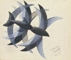 blastedheath: Giacomo Balla (Italian, 1871-1958), Volo di rondini [Flight of swallows], 1913. Gouache on paper, 32.5 x 38.5 cm.
