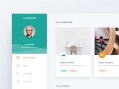Teachable User Dashboard by Ghani Pradita