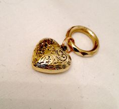 Scarf Ring Heart Pendant Scarf Jewelry For  by ToppyToppyKnits, $6.00