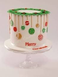 Image result for christmas decorated cakes