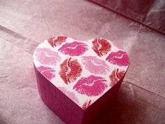 Kisses Decoupaged Trinket Box by tatteredpearls on Etsy