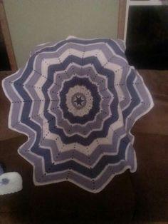 Crochet ripple in the round baby blanket.