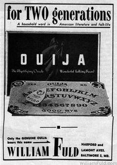 William Fuld Ouija Board Trade Advertisement  Playthings  August 1947