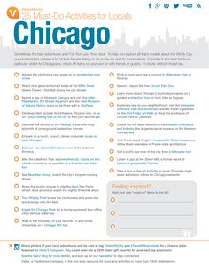 How many of these #Chicago activities have you done? Play tourist in your hometown this summer, Chicagoans! Download our checklist and go exploring.