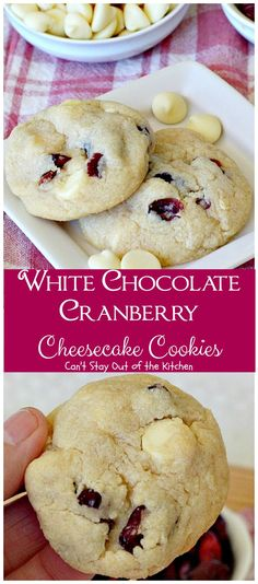 White Chocolate Cranberry Cheesecake Cookies   Can't Stay Out of the Kitchen   #Subway copycat recipe. #cheesecake pudding mix takes these scrumptious #cookies to the next level. They are sensational! #whitechocolate #craisins #dessert