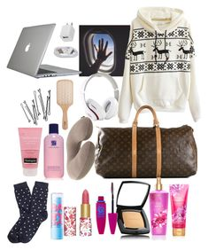 """carry on........."" by alondrauribe ❤ liked on Polyvore featuring tarte, Chanel, Maybelline, Brooks Brothers, Neutrogena, Estée Lauder, Eagle Creek, Louis Vuitton, BOBBY and Philip Kingsley"