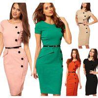 Vestidos de mulheres 2015 moda nuevas mujeres vestido del desgaste del verano a vestidos negocio de trabajo Midi lápiz Bodycon delgados vestidos