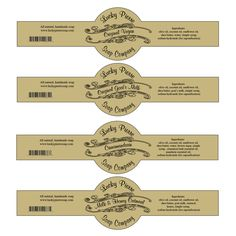 Free Printable Cigar Band Soap Label Template                                                                                                                                                                                 More