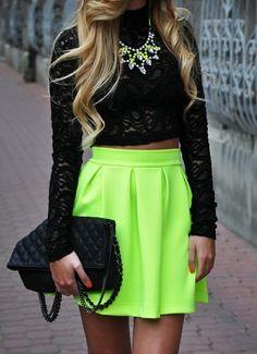 Beautiful Neon Lime Skirt