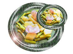 Patatas al vapor con cebolla y vainita.  Las patatas al vapor con cebolla y vainita son una fuente de almidones energéticos, vitaminas y minerales. Son fáciles de preparar y salen muy ricas.