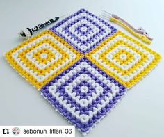 Sac Granny Square, Teachers Pet, Crochet Squares, Knitted Blankets, Weaving, Embroidery, Knitting, Instagram, Chrochet