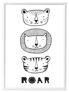 A Little Lovely Company Poster: Roar Animals