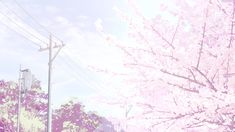 Animated gif about beautiful in ❁๑❀Scenery✿๑❁ by 전김민박중 Peach Aesthetic, Aesthetic Gif, Aesthetic Backgrounds, Aesthetic Wallpapers, Sky Anime, Blue Anime, Videos Anime, Anime Gifs, Episode Backgrounds