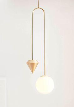 Plumb Pendant Light, Anna Karlin  #HauteLiving #AnnaKarlin #Lighting…