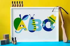 ABC prints from Nursery Names, a new venture by Emily Forgot