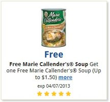 FREE Marie Callender's Soup at Kroger Stores!