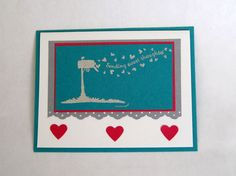 Handmade Happy Valentine's Day Card using Stampin' Up products on Etsy, $4.50