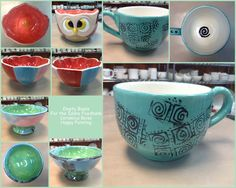 Ceramica Customers Painted Empty Bowls for the Idaho Foodbank!