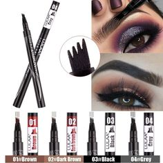 Fashion Fork Tips Liquid Eyebrow Pencil Long Lasting Waterproof Non-Dizzy Dyeing Eyebrow Pen Brow Mascara, Eyebrow Pencil, Fork, Eyebrows, Lipstick, Makeup, Tips, Accessories, Beauty