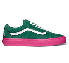 "Vans Syndicate Old Skool Pro ""S"" Golf Wang (Green/Pink) - Skate Shoes - www.consortium.co.uk"