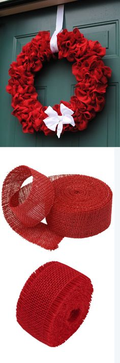 1000 images about burlap christmas on pinterest burlap for How to use burlap ribbon
