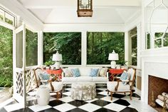 Breezy Porches and Patios. Freestanding Summer House Porch