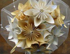 Ramos de novia en origami, Producto de Almanova sobre Participaciones en Buenos Aires - Casamientos Online