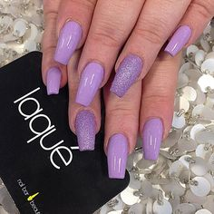 Laque Nail Bar Dope Purple Colour Nails Silver Glitter Single Nail
