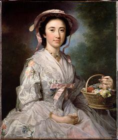 George Knapton. Portrait of Lucy Ebberton, 1750.