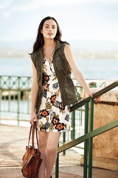A touch of street style over classic floral.