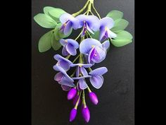 How to make nylon stocking flowers - Gladiolus - YouTube