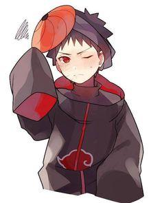 Cutie Obito in Akatsuki cloak and Tobi mask! Naruto Uzumaki Shippuden, Kakashi And Obito, Tobi Obito, Hinata Hyuga, Otaku Anime, Anime Naruto, Naruto Cute, Anime Kawaii, Anime Chibi