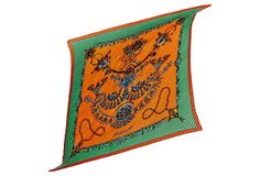 Hermès Farures des Sables Pleated Scarf on OneKingsLane.com