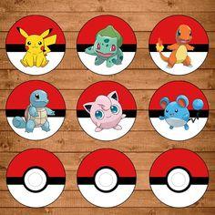20 Rótulo Para Água Ouro Pokemon