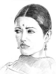 Aishwarya - Pencil Sketch
