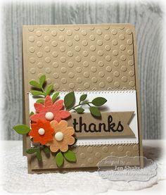 Thank You Card by Jen Shults #Cardmaking, #ThankYou, #TayloredFelt