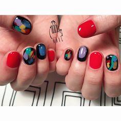 480 отметок «Нравится», 1 комментариев — 111NAIL (@111nail_omotesando) в Instagram: «⚫️▪️ #nail#art#nailart#ネイル#ネイルアート…»