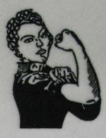 Wir können es schaffen! Rosie das machen-Stickerei-Design von ApexEmbroidery auf Etsy https://www.etsy.com/de/listing/195310871/wir-konnen-es-schaffen-rosie-das-machen