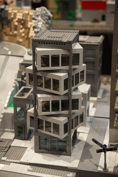 This building is really cool. LEGO's does it again! Maquette Architecture, Concept Models Architecture, Architecture Model Making, Futuristic Architecture, Facade Architecture, Amazing Architecture, Architecture Drawing Plan, Conceptual Architecture, Creative Architecture