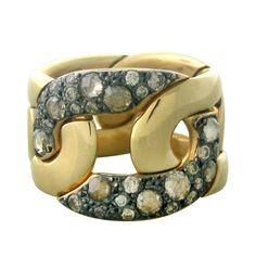 1stdibs | Pomellato Tango Gold Diamond Wide Band Ring