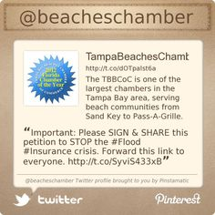 Follow us in Twitter-ville!  @Tampa Bay Beaches Chamber of Commerce's Twitter profile,  courtesy of @Pinstamatic (http://pinstamatic.com)