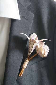 Groom/best men/fathers flower Buttonhole text book by Meiorigami, £6.50