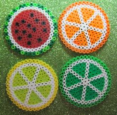 Fruit coasters perler beads by Shayla L. - Perler® | Gallery