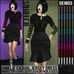 Sn@tch Amelie Jersey Dress Outfit Vendor Ad LG | Flickr - Photo Sharing!