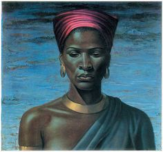 Vladimir Tretchikoff Portrait of Zulu Girl 1951 Original Lithograph Zulu, South African Artists, Art Africain, Afro Art, African American Art, Illustrations, Black Art, Vintage Prints, Female Art