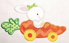 Easter Carrot Car Machine Embroidery Design