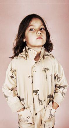 Mini Rodini SS12 Wild At Heart Pico Jacket Safari Print