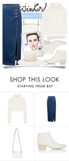 """Chic in White - Sweater Weather"" by yoo-q ❤ liked on Polyvore featuring Roberto Cavalli, WithChic, Miss Selfridge, Marsèll, Janessa Leone, contestentry and wintersweater"